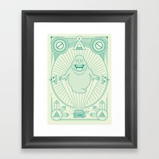 Slimer Jam Framed Art Print