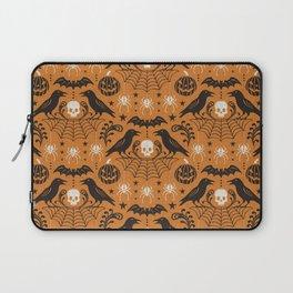 All Hallows' Eve - Orange Black Halloween Laptop Sleeve