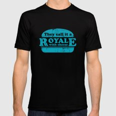 Pulp Fiction - royale with cheese Black Mens Fitted Tee X-LARGE