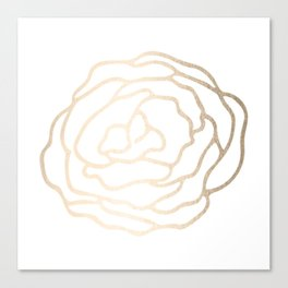 Flower in White Gold Sands Canvas Print