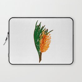 Australian Native Floral Illustration - Beautiful Banksia Flower Laptop Sleeve