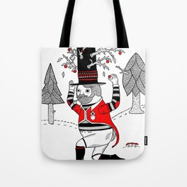 On the various things that can grow out of stove pipe hats. Tote Bag