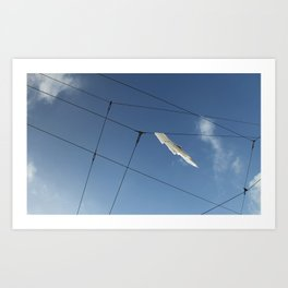 Wire Hangling Art Print
