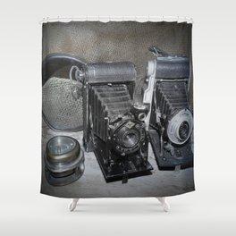 Vintage Lenses. Shower Curtain