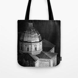 shot on film .. tuscan church Tote Bag