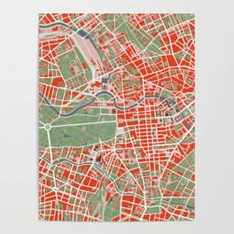 Berlin city map classic Poster