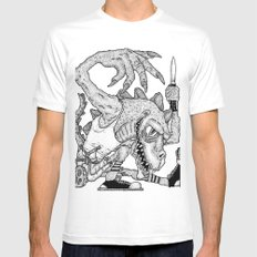 Time to Dance MEDIUM Mens Fitted Tee White