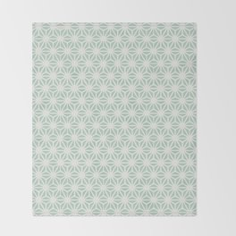 Seafoam Green Asanoha (Hemp Leaf) Pattern Throw Blanket