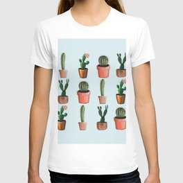 Various Cacti Light Blue T-shirt