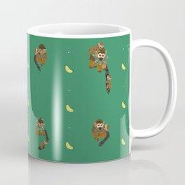 Classic Bananas with Monkeys and Babies Pattern Coffee Mug