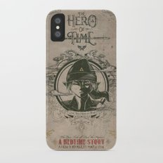 Legend of Zelda Link the Hero of Time Vintage Book Cover iPhone X Slim Case