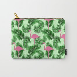 Flamingo tropical pattern Carry-All Pouch