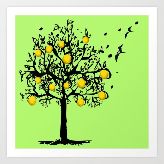 Orange tree Orchard Art Print
