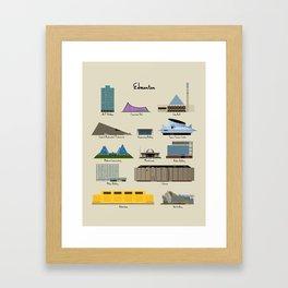 Edmonton Modern Buildings Framed Art Print