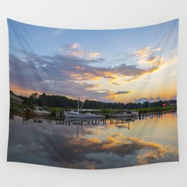 Sunset on Jones Creek Wall Tapestry