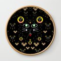 Merry black cat in the night and a mouse involved pop-art by pepitaselles