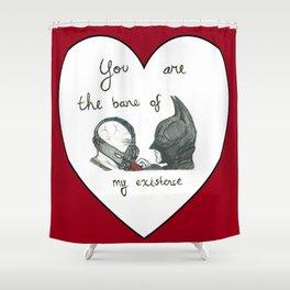 Caught in a Bat-Romance Shower Curtain
