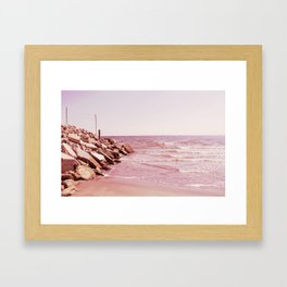 Rosey Beaches Framed Art Print