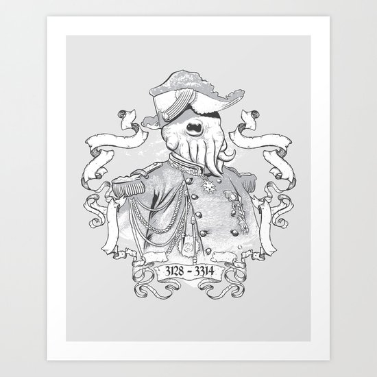 I for one welcome our Amphibious Alien Overlords Art Print