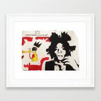 basquiat Framed Art Prints featuring Basquiat by JahMarie