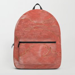 Living Coral  - Color of the year - Abstract #1 Backpack