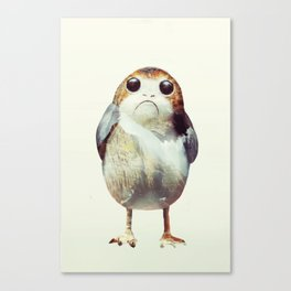 Porg on Ahch-To Canvas Print