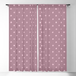 Metallic Mauve Grunge Polka Dots Blackout Curtain