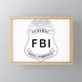 Feds Badge Framed Mini Art Print