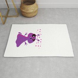 Purple monsters Rug
