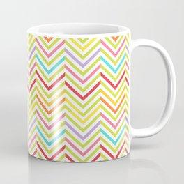 Colorful pink green red geometric zigzag chevron pattern Coffee Mug