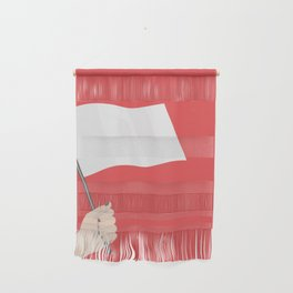 White Flag Wall Hanging