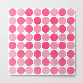 the pink dots Metal Print