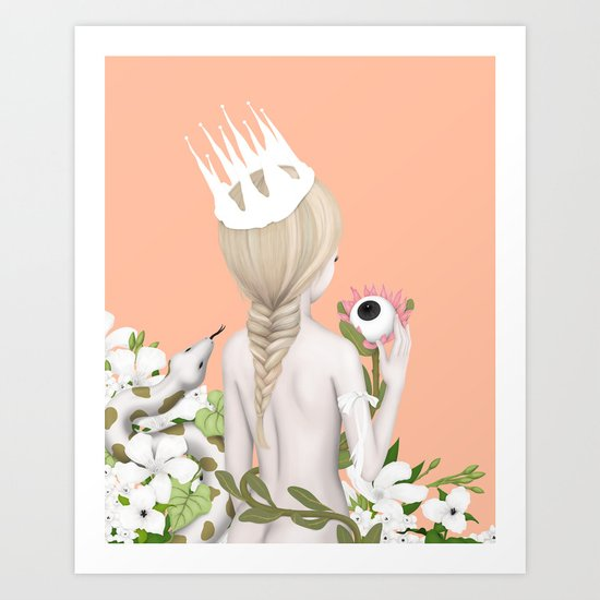 the white witch Art Print