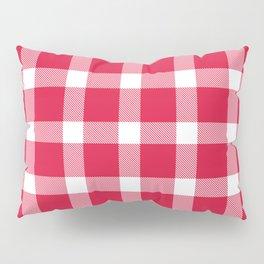 Plaid Crimson Red Pillow Sham