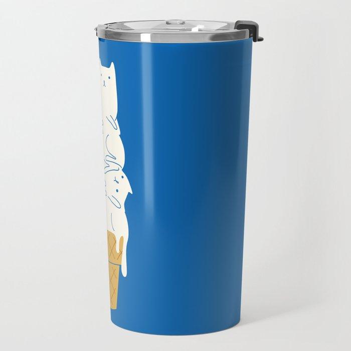 Cats Ice Cream Travel Mug