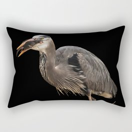 Heron Eating the Mole Rectangular Pillow