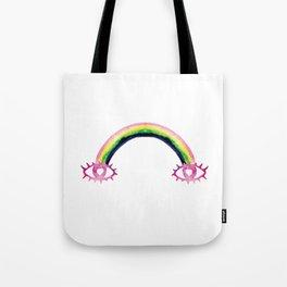 Boho Rainbow Love Eyes Tote Bag