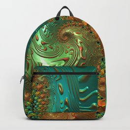 Cool Creamsicle - Fractal Art Backpack
