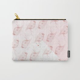 red bird on pink mosaic Carry-All Pouch