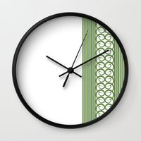 striped Wall Clocks featuring Striped by Panda