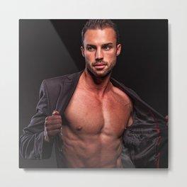 Sexy man shirtless || erotica deco Metal Print