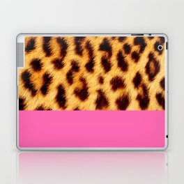 Leopard skin with hot pink Laptop & iPad Skin
