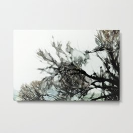 Autumn Tree Branch Painting [Abstract] Metal Print