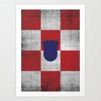 Minimalist Croatia Art Print