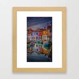 Burano Venice Italy Framed Art Print