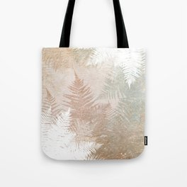 Fern Snowflakes - Golden, bronze & Sage Tote Bag