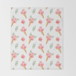 Floral Chill Rose Throw Blanket