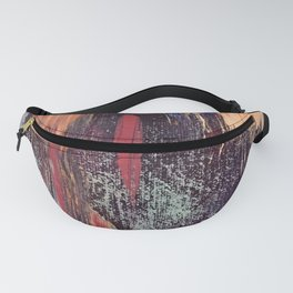 Night and Day: pretty abstract piece in orange, purple, and blues Fanny Pack