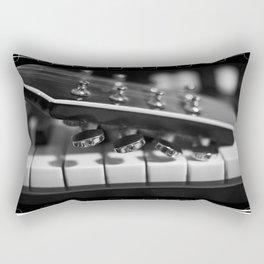 Guitar on Keys Rectangular Pillow