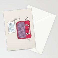 Radio Static Stationery Cards